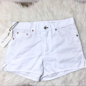 Rag & Bone Justine High Rise Denim Shorts White